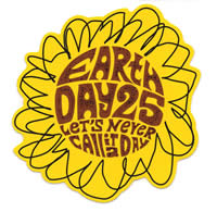 sticker celebrating Earth Day 25th anniversary