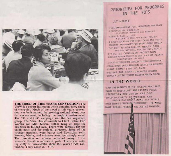 United Auto Workers newsletter October 1970
