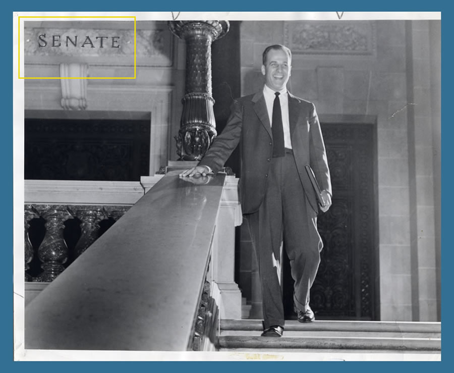 Young Gaylord Nelson in the Senate